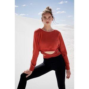 Free people Superwoman Sweat wrap sweater